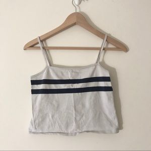 JOHN GALT/BRANDY MELVILLE striped crop top/tank